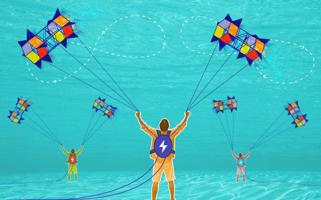 Onderwaterenergie van de onderwatervlieger