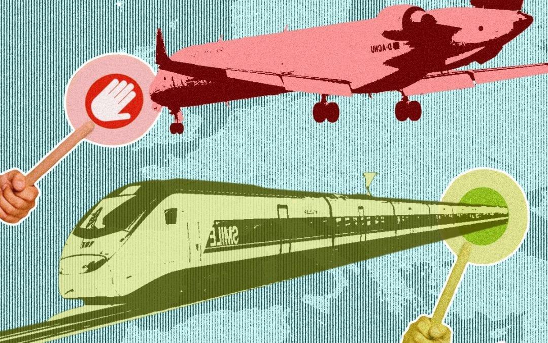 Waarom de trein kan concurreren met het vliegtuig