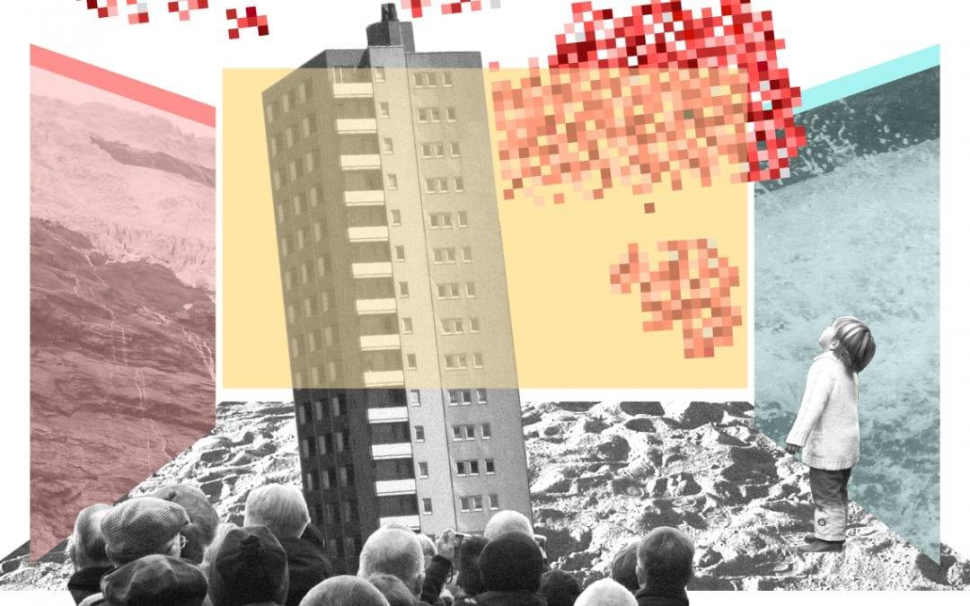 Broeikasgas in kleurrijke pixels